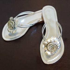 Aldo rhinestone flower sandals